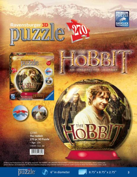 The Hobbit 270 Piece 3D Puzzle