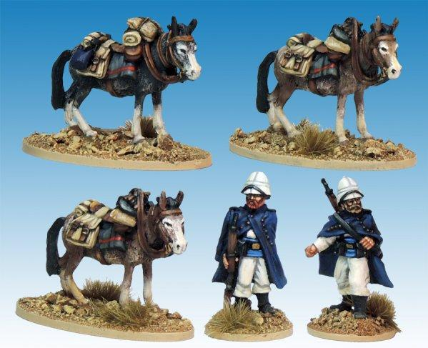 28mm March or Die: Legion Mounted Company Mule holders
