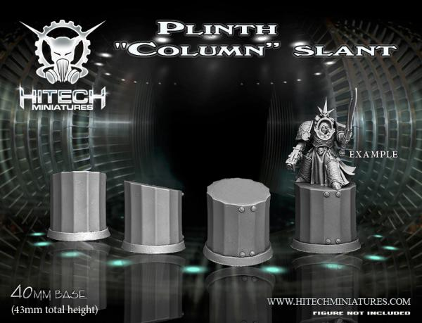 40mm Resin Plinth ''Column'' Slant