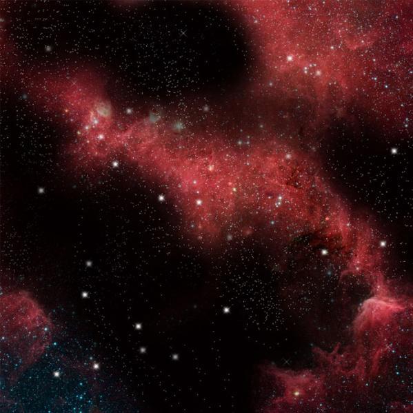 Crimson Gas Cloud Game Mat (36''x36'')