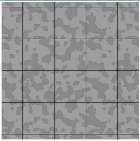 Gaming Paper Singles (1'' Cobblestone Squares)