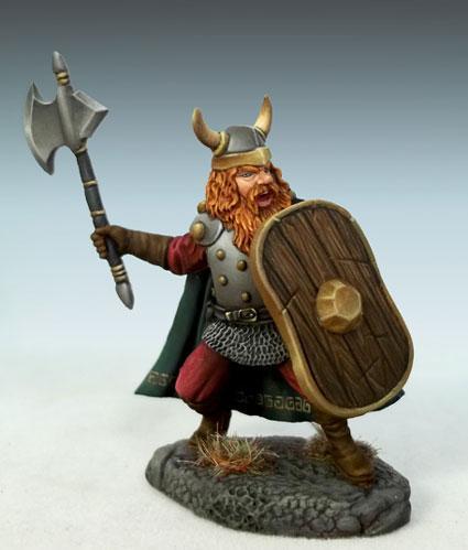 Male Dwarven Warrior w/Battle Axe