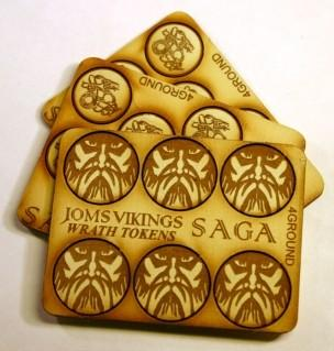 SAGA: Viking Age: (Jomsviking) Wrath & Fatigue MDF Tokens