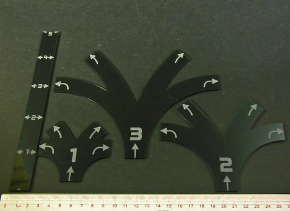 Space Fighter, Maneuver Gauge Set (4)