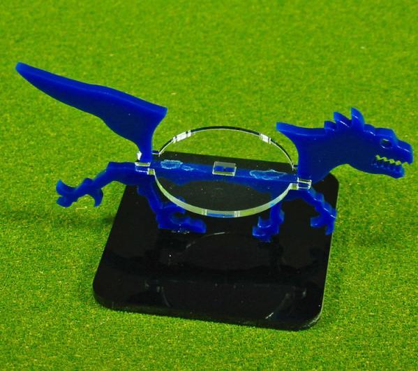 2 Inch Raptor, Character Mount Marker (1) (Blue)