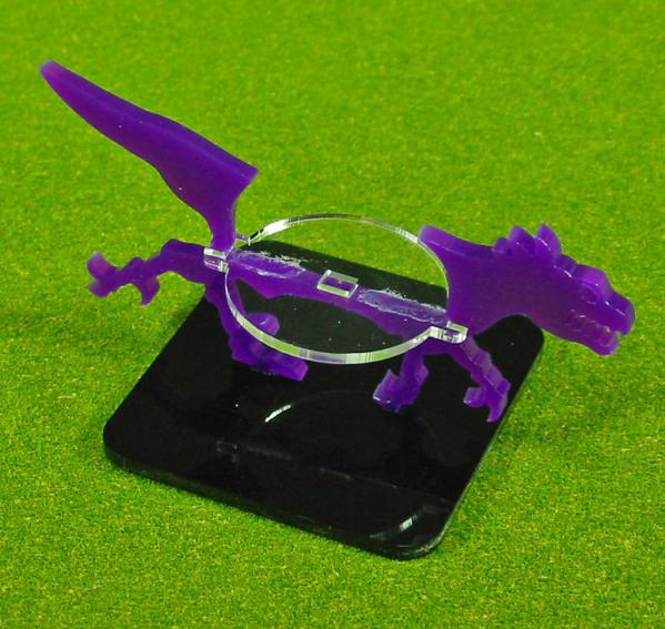 2 Inch Raptor, Character Mount Marker (1) (Purple)