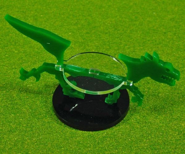 40mm Circle Raptor, Character Mount Marker (1) (Green)