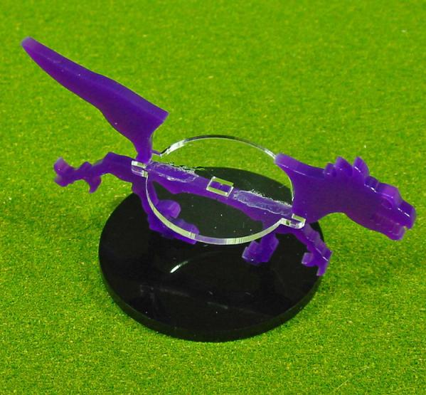 50mm Circle Raptor, Character Mount Marker (1) (Purple)