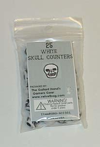 White Skull Counters (25)