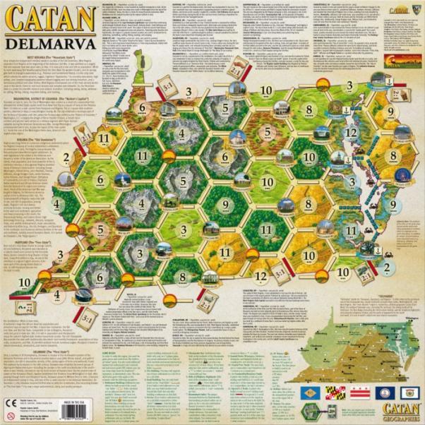 Catan Geographies: U.S.A. - Delmarva