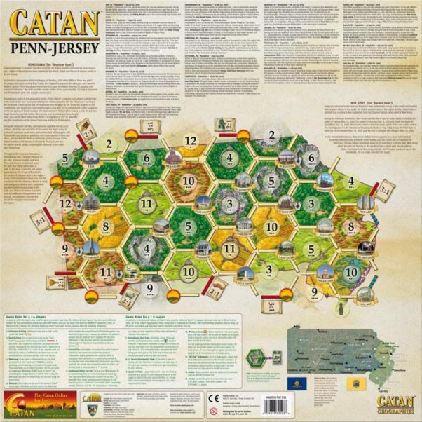 Catan Geographies: U.S.A. - Pennsylvania /New Jersey