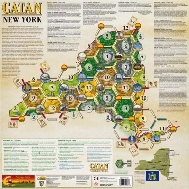 Catan Geographies: U.S.A. - New York