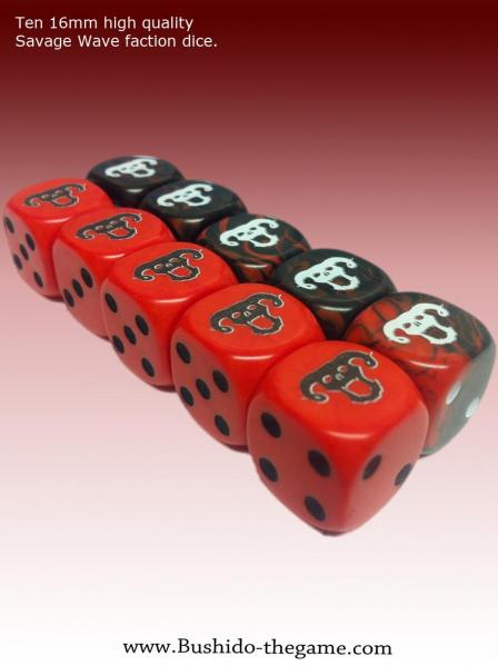 Bushido Miniatures: (Savage Wave) Faction Dice (10)