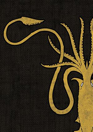 Game of Thrones Art Sleeves: House Greyjoy (HBO)