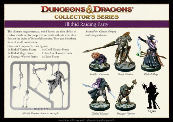Dungeons & Dragons Collector's Series: Illithid Raiding Party