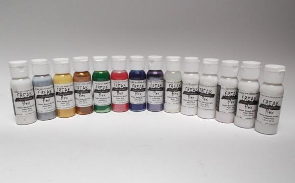 Minitaire Airbrush Paints: FreakFlex SFX Complete Set of 14 1oz. Colors