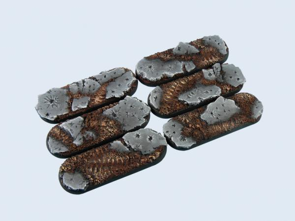 Battle Bases: Ruins Bases, Bike 25x70mm (4)