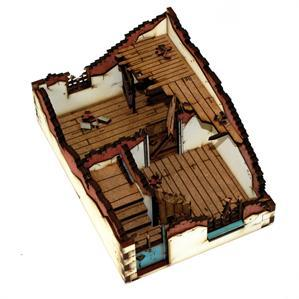 28mm World at War Terrain: Ruined House Type 2
