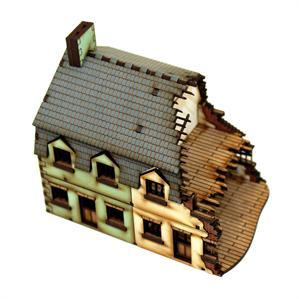 15mm European Buildings: Damaged Semi Detached Type1