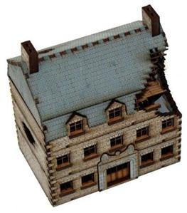 15mm European Buildings: Damaged Grand Stone Hotel