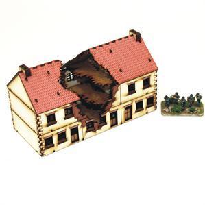 15mm European Buildings: Damaged Terrace Type2
