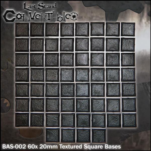 LSC Bases: 20mm Square Bases (60)