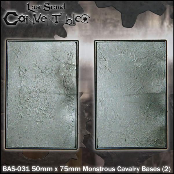 LSC Bases: 50mm x 75mm Monstrous Cavalry Bases (2)