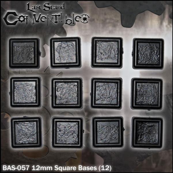 LSC Bases: 12mm Square Bases (12)
