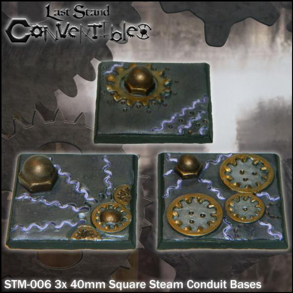 LSC Bases: 40mm Square Steam Conduit Bases (3)
