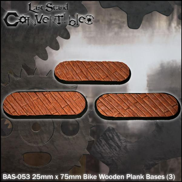 LSC Bases: 25mm x 75mm Bike Wooden Plank Bases (3)
