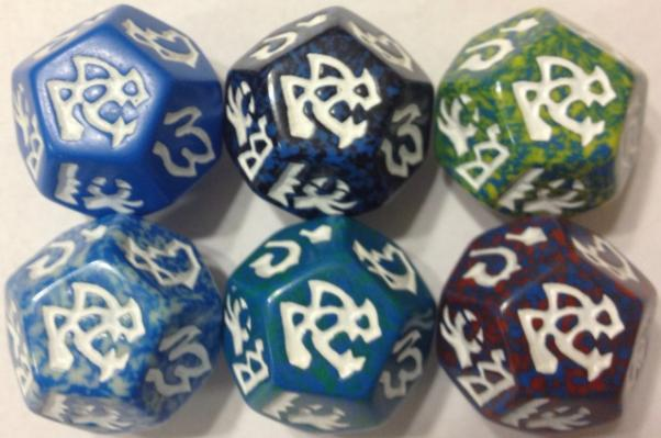 Dragon Dice: Dragons! Blue Wyrm Set