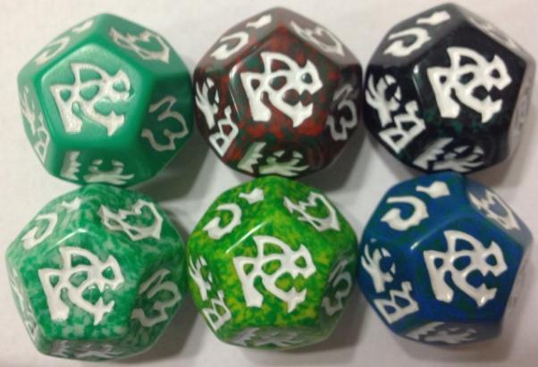 Dragon Dice: Dragons! Green Wyrm Set