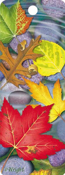 3D Motion Lenticular Bookmark: Autumn Leaves (2.25''x6'')