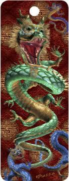 3D Motion Lenticular Bookmark: Eastern Dragon (2.25''x6'')