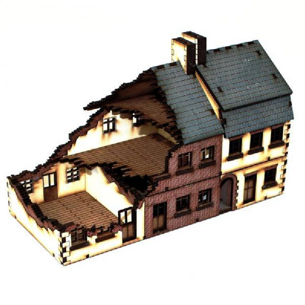 15mm European Buildings: Damaged Terrace Type 1
