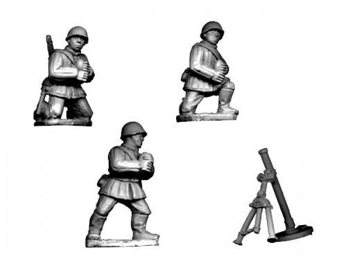 Crusader Miniatures: Russian Mortar (Winter Kit) (4 pcs)