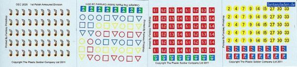 20mm Decal Sets: 1st Polish Armoured Division