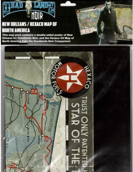 Deadlands Noir: Map New Orleans/Hexaco