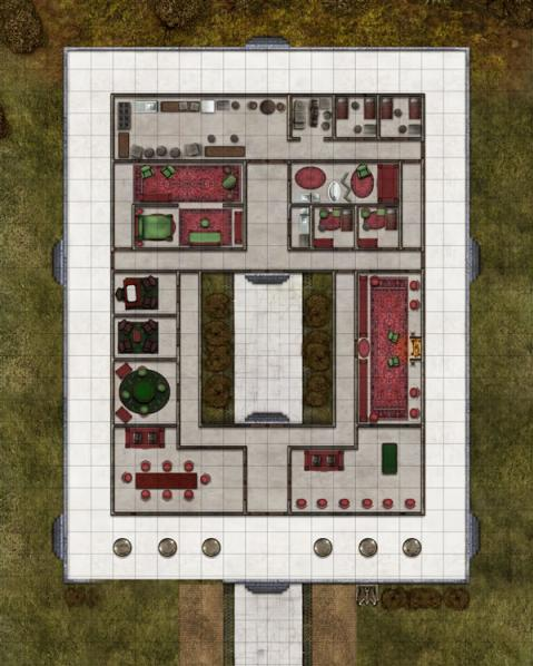 Deadlands Noir:  Map Hotel/Manor