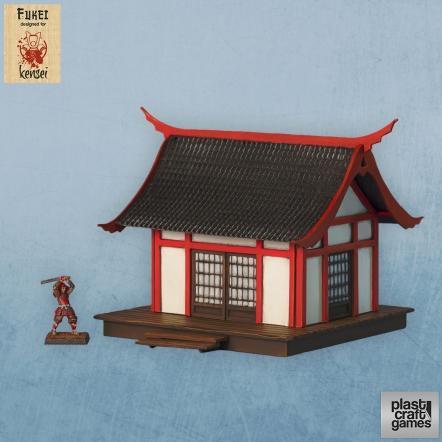 28mm Kensei Terrain: Fukei Building 3
