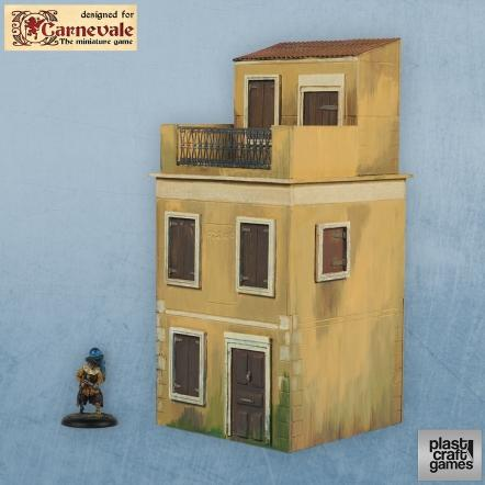 28mm Carnevale Terrain: Two- Strory Building With Attic