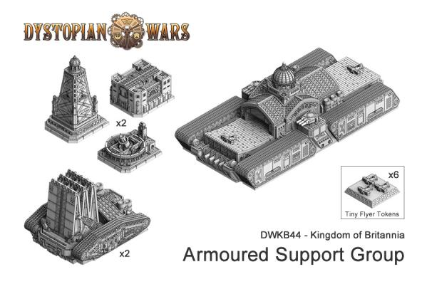 Dystopian Wars: (Kingdom Of Britannia) Armoured Support Flotilla