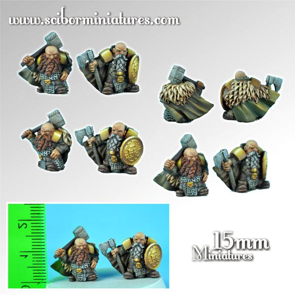 15mm Fantasy Miniatures: Dwarves Lords (2)