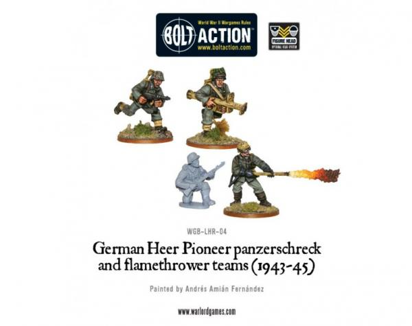 Bolt Action: (German) Army Flamethrower & Panzerschreck (4)