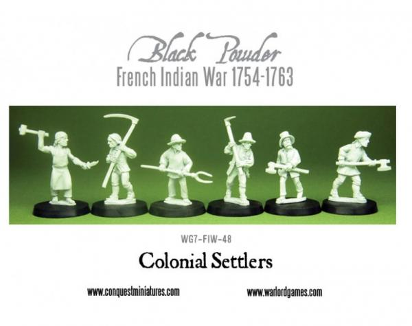 Black Powder (French-Indian War): Colonial Settlers