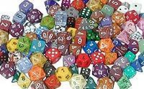 Dice Loose Singles: Assorted Random Polyhedral d10 (1)