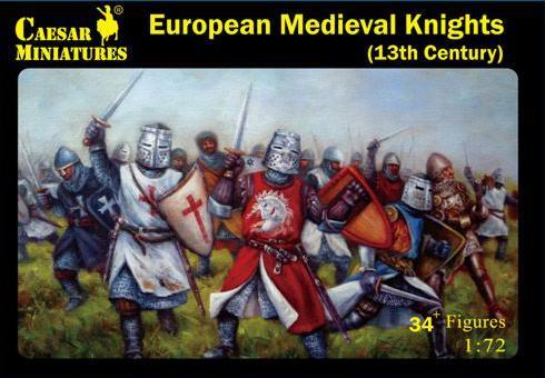 Caesar Miniatures: 13 Century Medieval European Knights