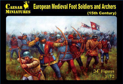 Caesar Miniatures: 15th Century European Foot Soldiers & Archers