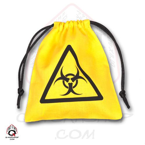 Dice Accessories: Yellow Biohazard Bag
