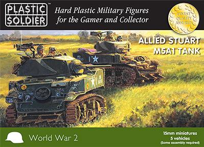 15mm WWII (American): Easy Assembly Stuart M5 Tank